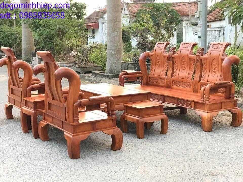 Bàn ghế tần 06 món gỗ hương đá