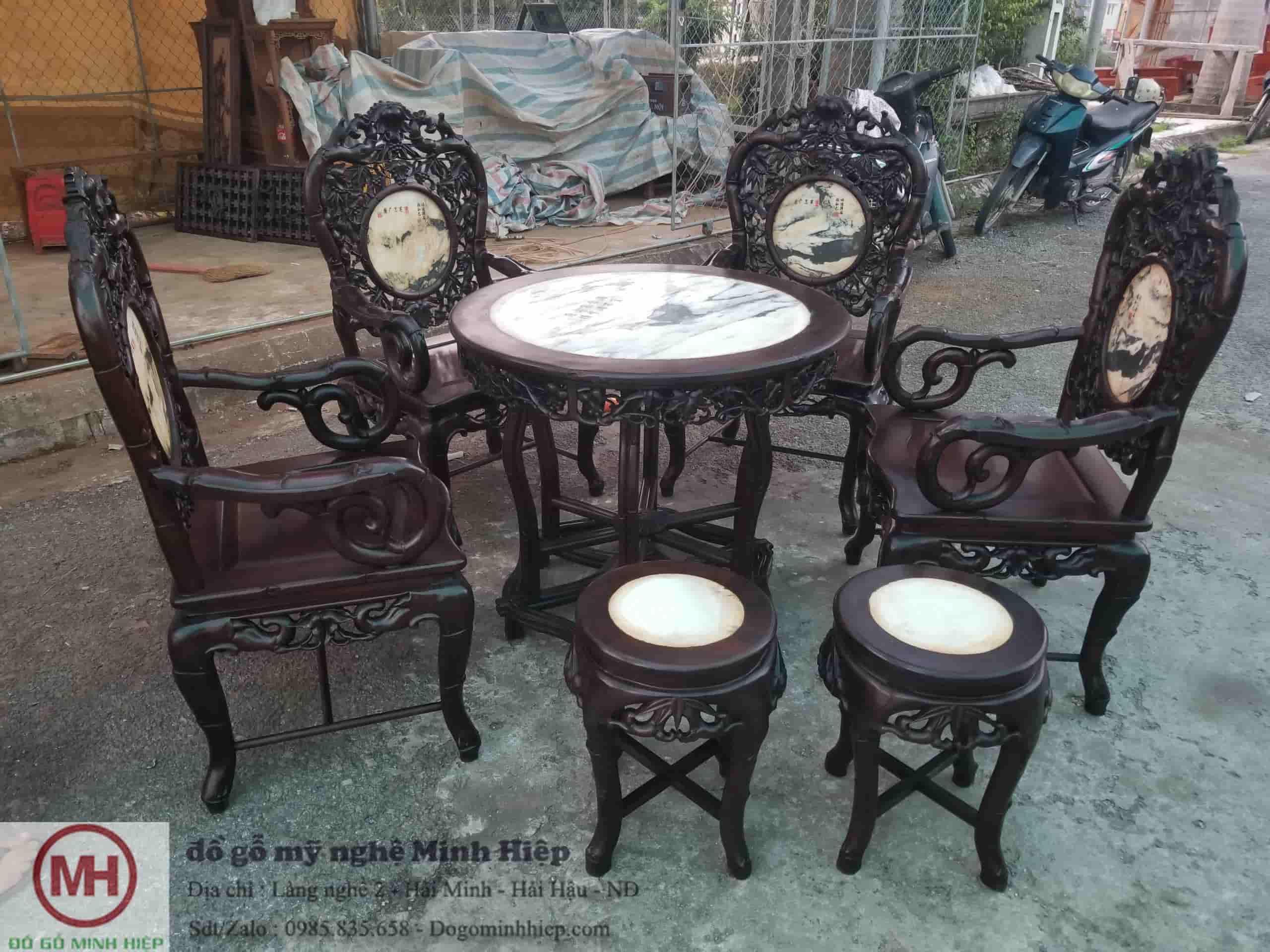 Bộ ghế trúc nam