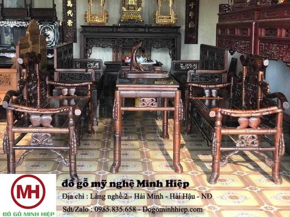 Bộ ghế trúc thọ tàugụ Quảng Bình