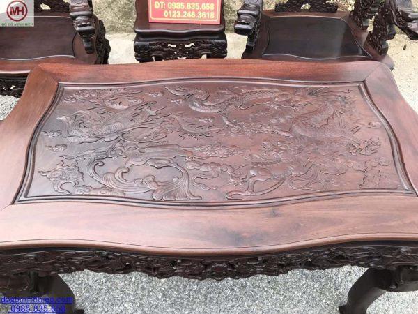 Bộ ghế vách rồng khảm ốc