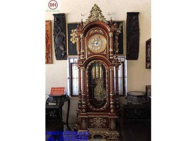 Đồng hồ cây máy Đức mạ vàng 24k