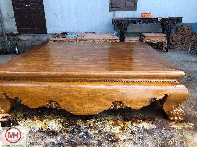 Sập trơn gỗ cẩm vàng