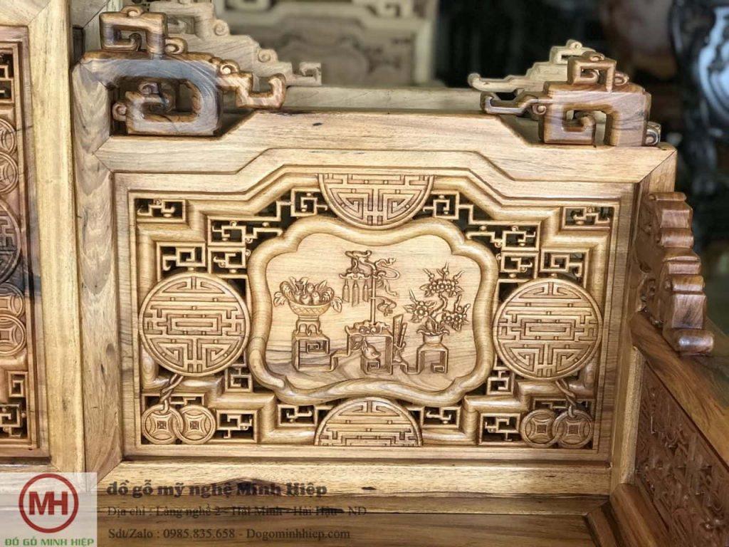 Trường kỷ tích cổ đồ gỗ gụ Quảng Bình