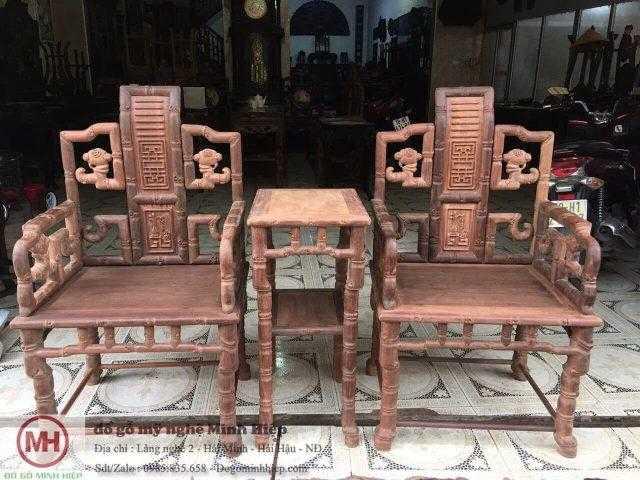 Bộ ghế minh trúc gỗ lim ta