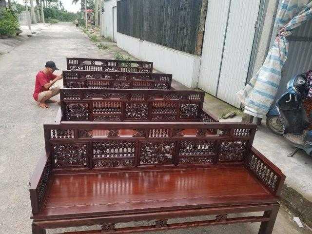 Mẫu bàn ghế cổ xưa: Trường kỷ song tiện Huế