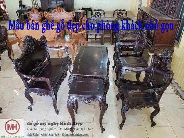 Top 5 Mẫu bàn ghế gỗ đẹp cho phòng khách nhỏ gọn