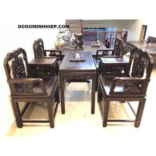 Mẫu bàn ghế gỗ đẹp cho phòng khách nhỏ gọn