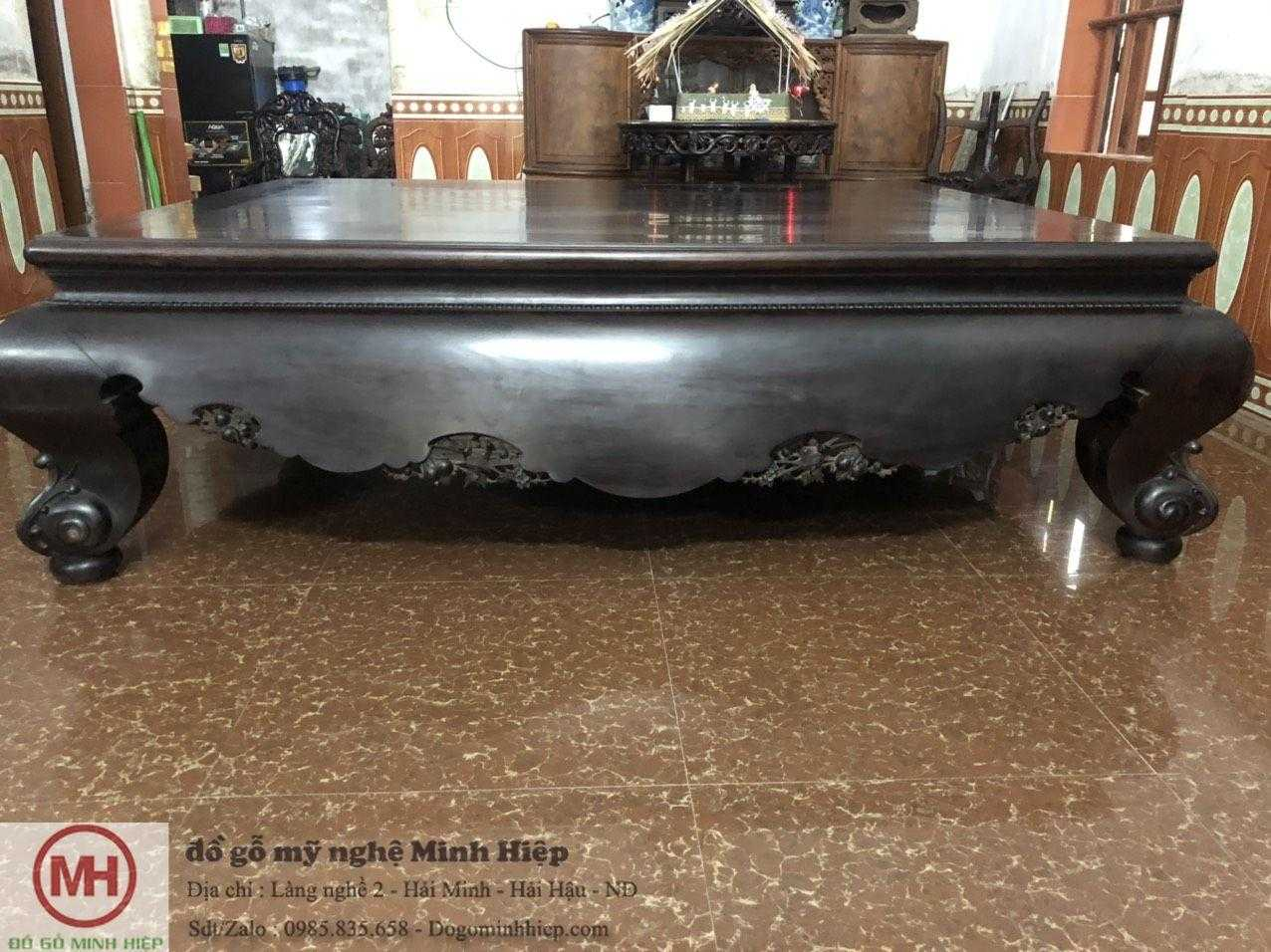 sập trơn gỗ trắc