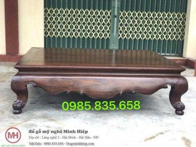 Sập vén trơn gỗ mun
