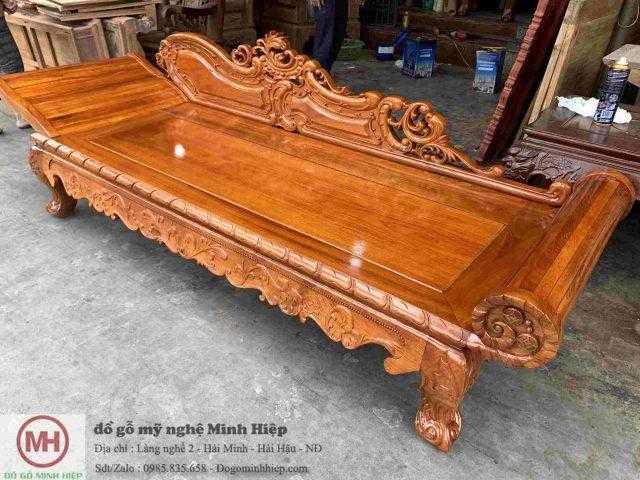 Giường phương lười gỗ gõ đỏ