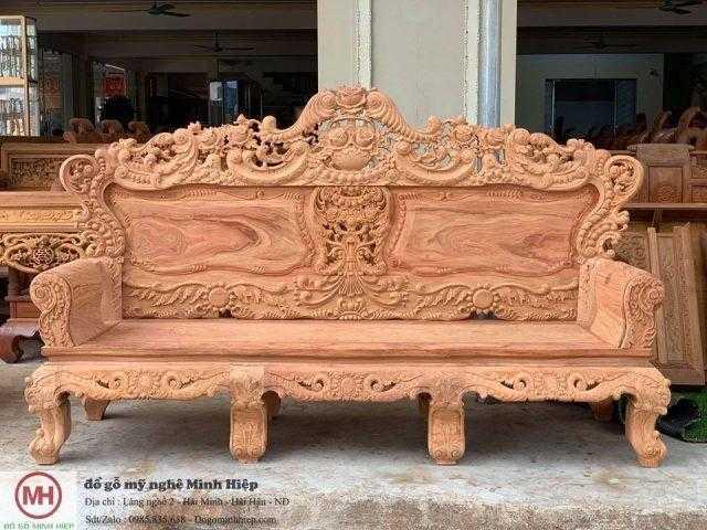 Bộ ghế hoàng gia gỗ gõ đỏ Mẫu-02