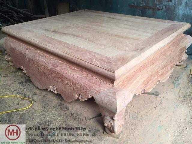 Sập trơn gỗ hương đá