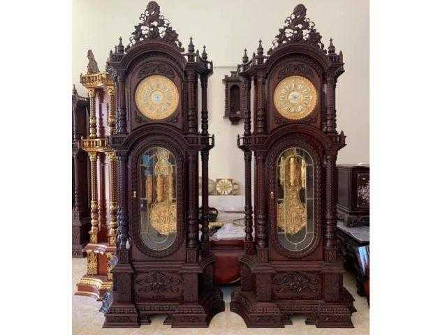 Đồng hồ cây gỗ gụ – DH01