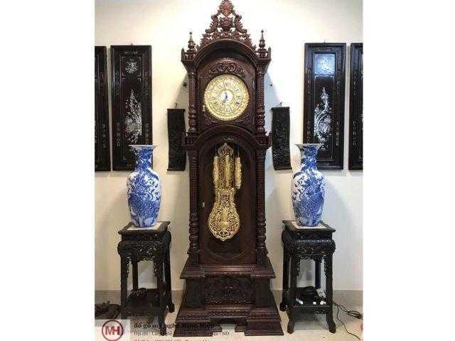 Đồng hồ cây gỗ gụ – DH02