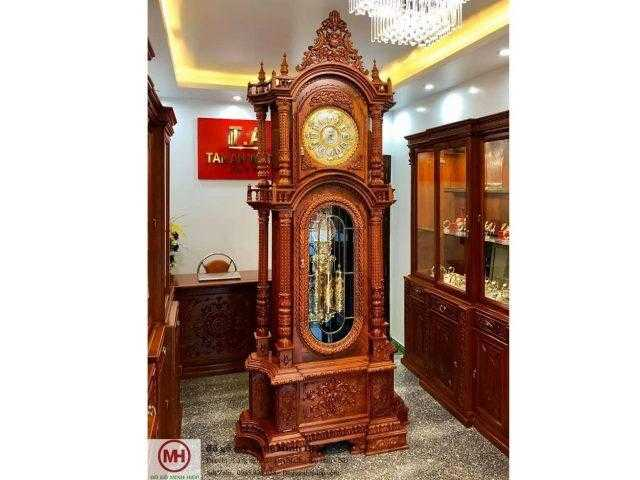 Đồng hồ cây gỗ hương đỏ – DH03