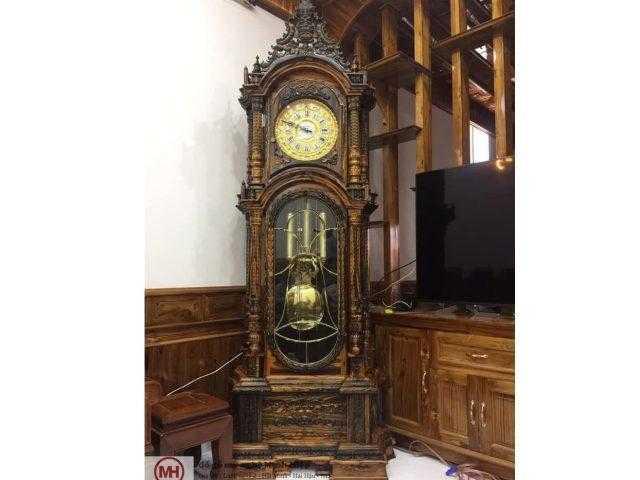Đồng hồ cây gỗ mun – DH04
