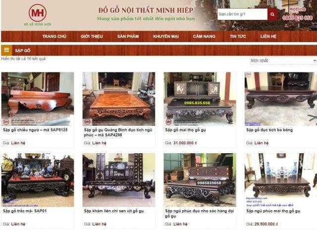 Địa chỉ bán sập gỗ tại Bình Định