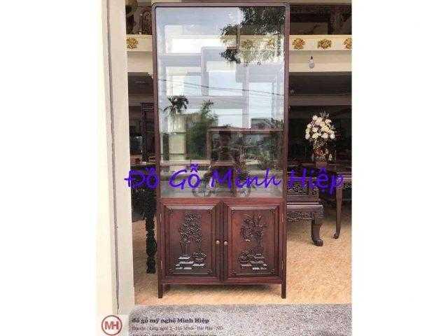 Tủ bày đồ gỗ gụ – mã TU5397