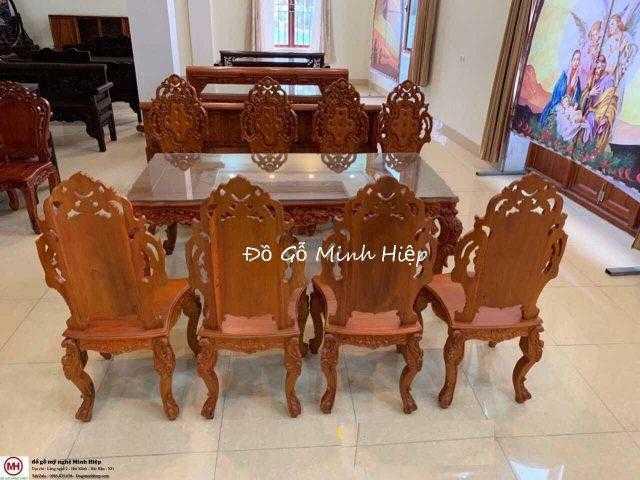 Bàn ghế ăn tân cổ điển – mã 5609