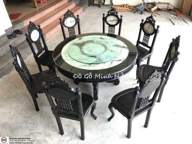 Bàn ghế ăn tròn Louis– mã 5629