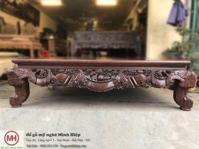 Sập gỗ vắt vải gỗ gụ – mã 5640