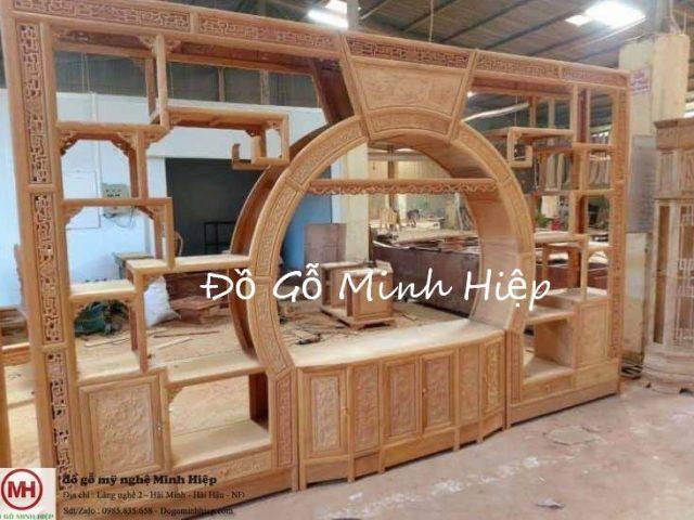 Tủ vách gỗ gõ đỏ – mã 5756