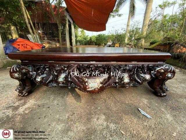 Sập vắt vải đại gỗ gụ – mã 6013