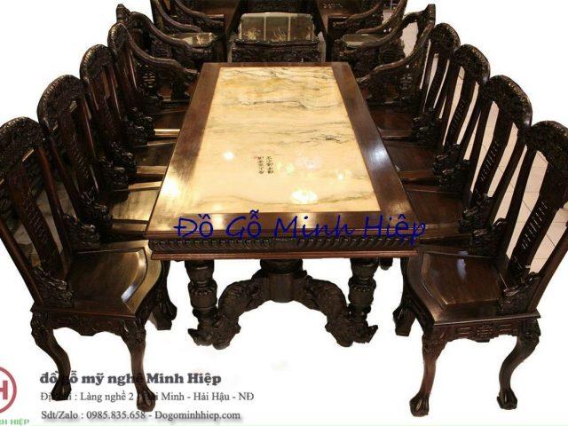 Bàn ghế ăn gỗ gụ – mã 6060